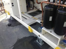 Mason Seismic Vibration Mounts Chiller Installation